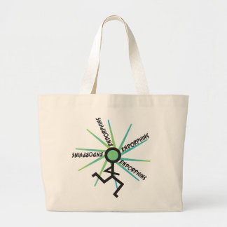Funny Running Endorphins Large Tote Bag