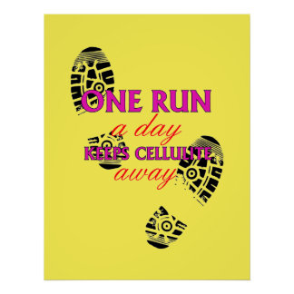 Funny Running Quote - Motivational Fitness Posters