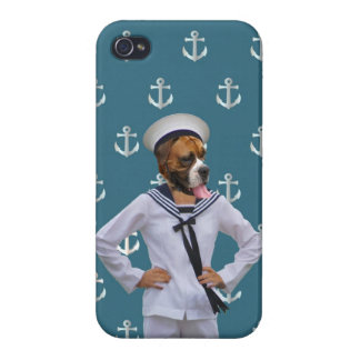 Funny sailor dog character case for iPhone 4