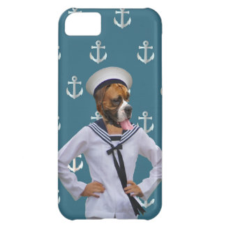 Funny sailor dog character case for iPhone 5C