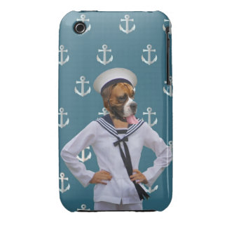 Funny sailor dog character Case-Mate iPhone 3 case