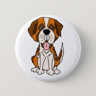Funny Saint Bernard Puppy Dog Art 2 Inch Round Button