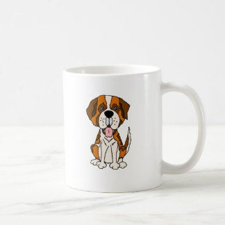 Funny Saint Bernard Puppy Dog Art Coffee Mug