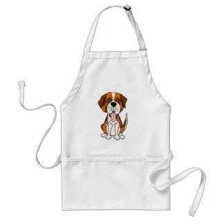 Funny Saint Bernard Puppy Dog Art Standard Apron