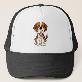 Funny Saint Bernard Puppy Dog Art Trucker Hat