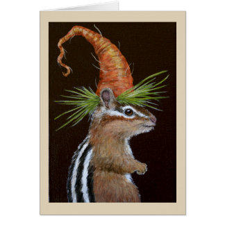Funny Samuel the chipmunk greeting card