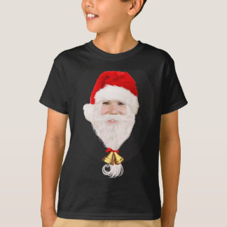 Funny Santa boy kids Christmas dark t-shirt