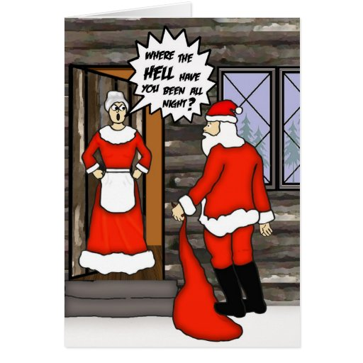 Funny Santa Card