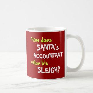 Funny Santa Christmas Accounting Joke Coffee Mug