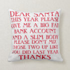 Funny Santa Christmas Pillow