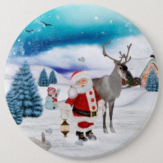 Funny Santa Claus 6 Inch Round Button