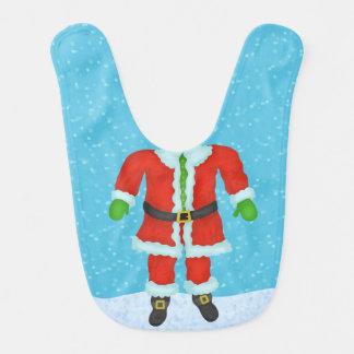 Funny Santa Claus Body Novelty Christmas Holiday Bib