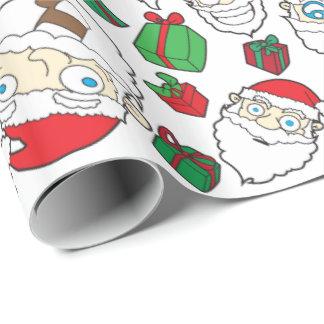 Funny Santa Claus Christmas gift wrap