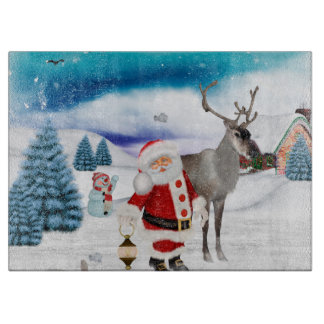 Funny Santa Claus Cutting Board