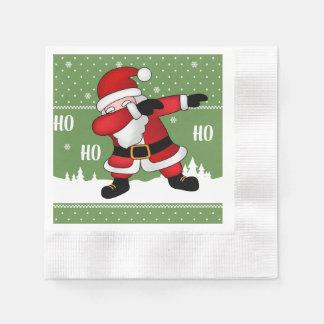 Funny Santa Claus Dabbing Merry Christmas Paper Napkin