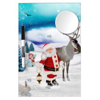 Funny Santa Claus Dry Erase Board With Mirror