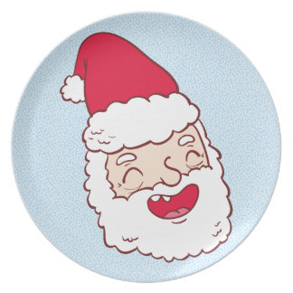 Funny Santa Claus laughing his head off Party Plates