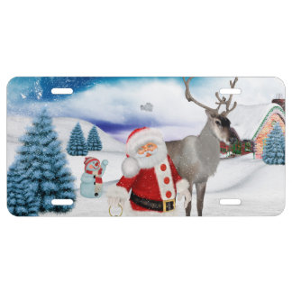 Funny Santa Claus License Plate