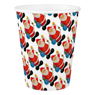 Funny Santa Claus Pattern Christmas Party Paper Cup