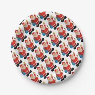 Funny Santa Claus Pattern Christmas Party Paper Plate