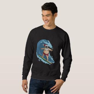 Funny Santa Claus Surfing Christmas Shirt