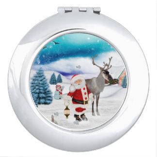 Funny Santa Claus Travel Mirrors