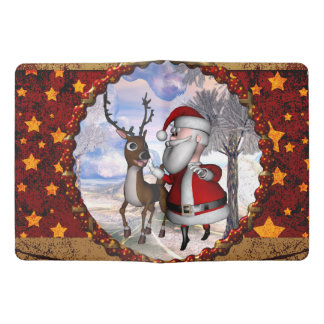 Funny Santa Claus with reindeer Extra Large Moleskine Notebook