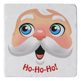 Funny Santa Claus With Rosy Cheeks Trivet