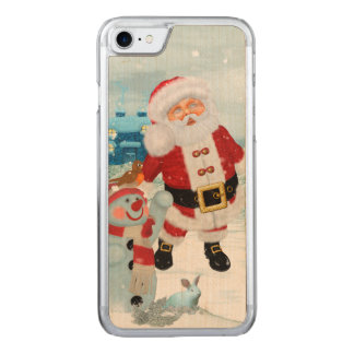 Funny Santa Claus with snowman Carved iPhone 8/7 Case
