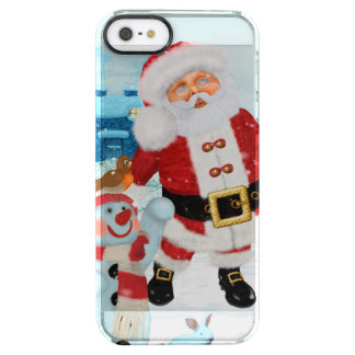 Funny Santa Claus with snowman Clear iPhone SE/5/5s Case
