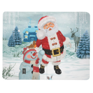 Funny Santa Claus with snowman Journal
