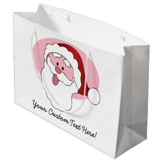 Funny Santa custom gift bag