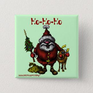 Funny Santa cute Christmas button design