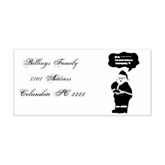 Funny Santa had to much turkey Design Self-inking Stamp