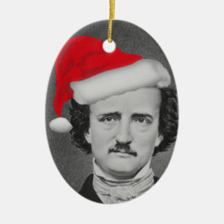Funny Santa hat Edgar A. Poe Christmas ornament