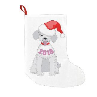 funny santa puppy small christmas stocking