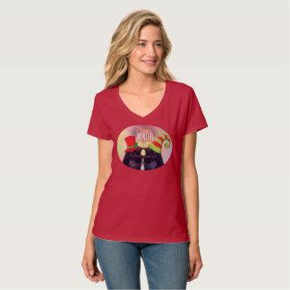 Funny santa Raven Bird t-shirt