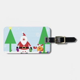 Funny Santa & Reindeer Luggage Tag
