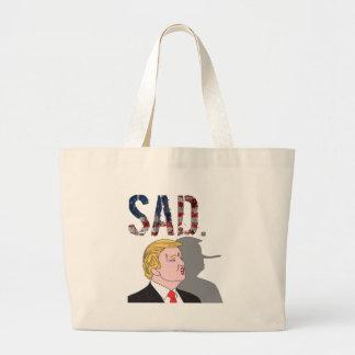 Funny sarcastic anti President Donald Trump Large Tote Bag