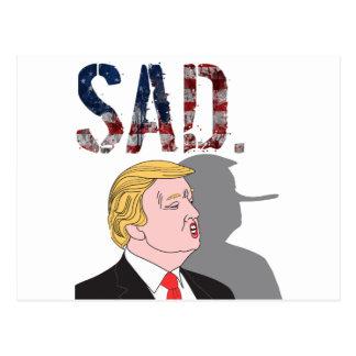 Funny sarcastic anti President Donald Trump Postcard
