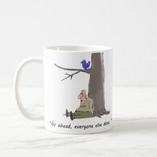 Funny, sarcastic coffee mug for bad days