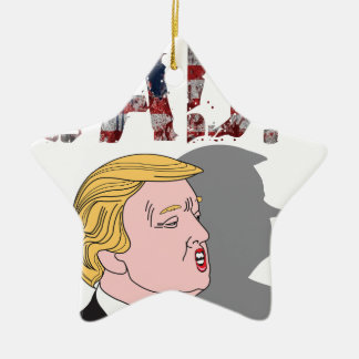 Funny sarcastic sad anti President Donald Trump Ceramic Star Ornament