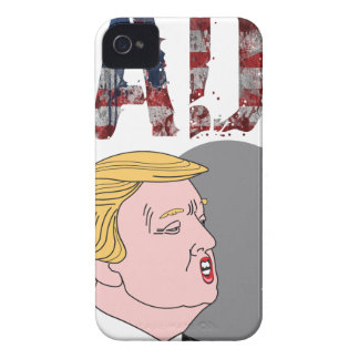 Funny sarcastic sad anti President Donald Trump iPhone 4 Covers