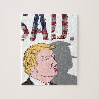 Funny sarcastic sad anti President Donald Trump Jigsaw Puzzle