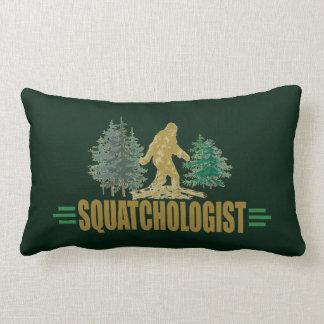 Funny Sasquatch   Big Foot   Believe!   Hunt Lumbar Pillow