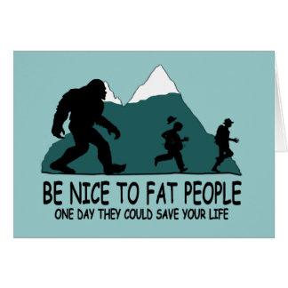 Funny Sasquatch Card