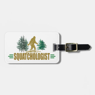 Funny Sasquatch, Squatchin, Squatching, Believer Luggage Tag