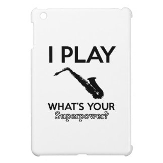 funny saxophone designs case for the iPad mini