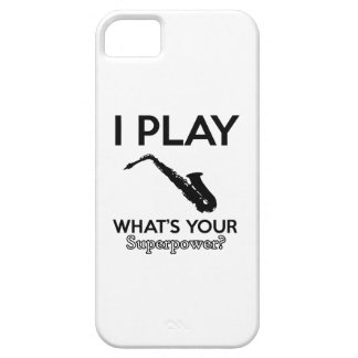 funny saxophone designs iPhone 5 cover