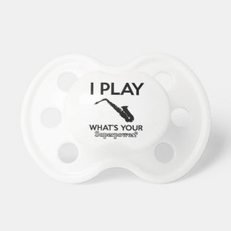 funny saxophone designs pacifier